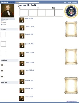 James K. Polk Presidential Fakebook Template