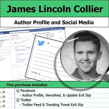 James Lincoln Collier - Author Study - Profile and Social Media