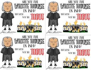 """James Madison """"Are You the White House?"""" Historical Valentine"""