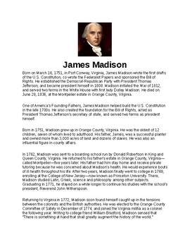 James Madison Article and Assignment