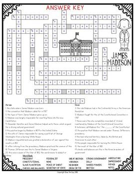 James Madison Crossword