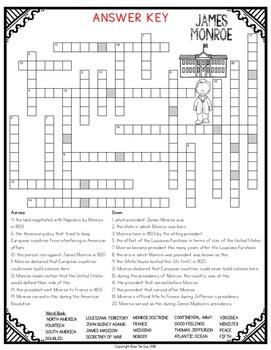 James Monroe Crossword