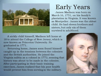 American Revolution: Founding Father, James Madison
