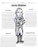 4th President - James Madison Graphic Organizer