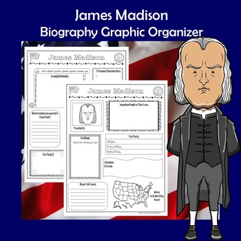 James Madison President Biography Research Graphic Organizer