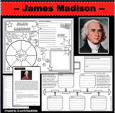 JAMES MADISON Research Project Timeline Poster Poem Biography Graphic Organizer