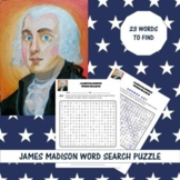 James Madison Word Search Puzzle - James Madison Word Search