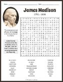 James Madison Word Search Worksheet