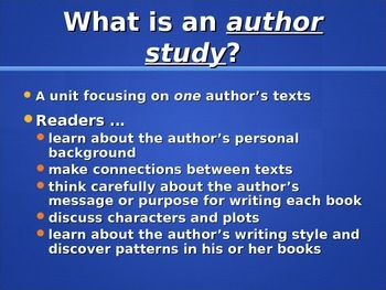 James Marshall Author Study Intro. PPT