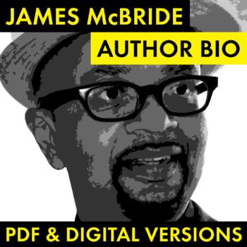 James McBride Author Study Worksheet, Easy McBride Biography Activity, CCSS