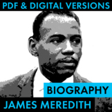 James Meredith Biography Research Organizer, Civil Rights