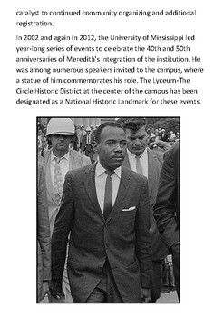 James Meredith Handout with activities