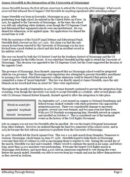 James Meredith & the Integration of the University of Mississippi