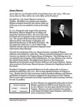 James Monroe Biography
