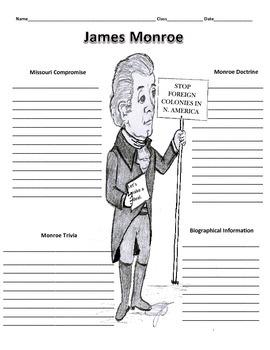 5th President - James Monroe Graphic Organizer