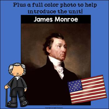 James Monroe Mini Book for Early Readers: Presidents' Day