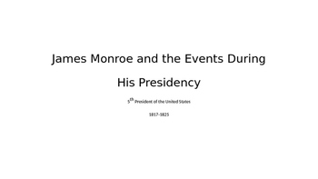 James Monroe PowerPoint