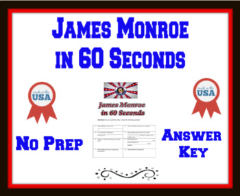 James Monroe in 60 Seconds