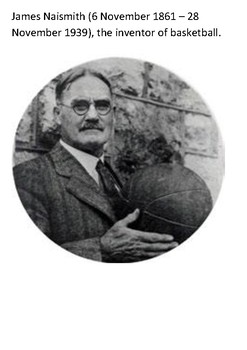 James Naismith Inventor of Basketball Word Search