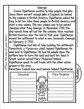 James Oglethorpe: Founding of Georgia Tab Booklet