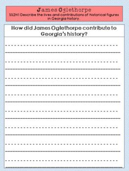 James Oglethorpe Graphic Organizer Set