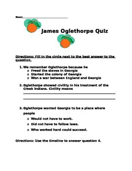 James Oglethorpe Lessons