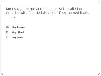 James Oglethorpe Power point