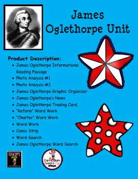 James Oglethorpe Unit:  Great Daily 5 Activities!!!