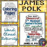 James Polk Coloring Page and Word Cloud Activity