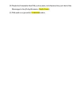 James Polk Video Guide - A & E Series The Presidents