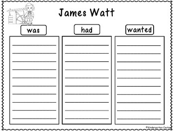 James Watt - Graphic Organizers