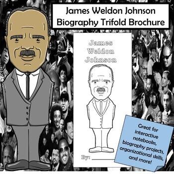James Weldon Johnson Biography Trifold Brochure