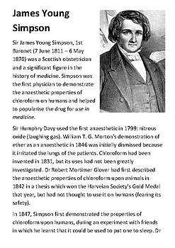 James Young Simpson Handout