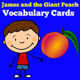 James and The Giant Peach Novel Study | Vocabulary Cards