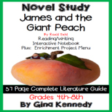 James and the Giant Peach Novel Study & Enrichment Projects Menu