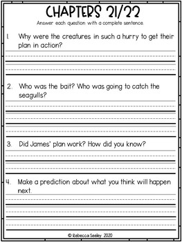 James and the Giant Peach- A Comprehensive Book Study