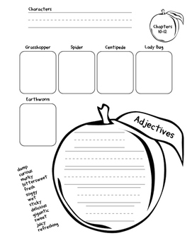 James and the Giant Peach Activity Packet (1st/2nd)