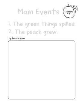 James and the Giant Peach Activity Packet (K)