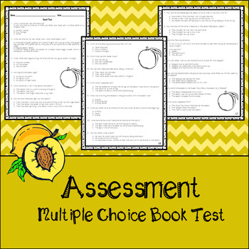 James and the Giant Peach Assessment, Questions, and Vocabulary