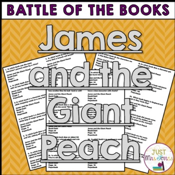 James and the Giant Peach Battle of the Books Trivia Questions