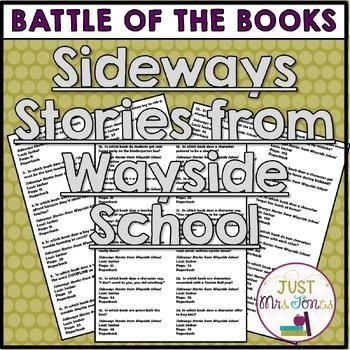 Sideways Stories from Wayside School Battle of the Books T
