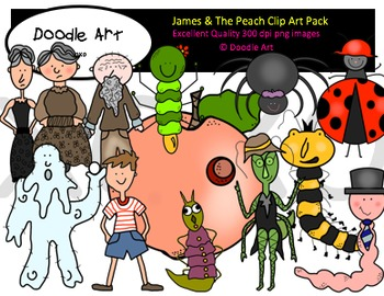 James and the Peach Clipart Pack