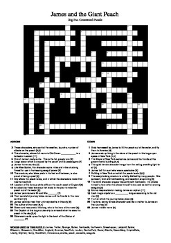 James and the Giant Peach - Crossword Puzzle
