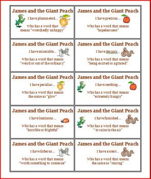James and the Giant Peach I have who has comprehension activity