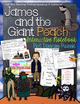 JAMES AND THE GIANT PEACH: INTERACTIVE NOTEBOOK PLOT DIAGRAM PUZZLE