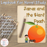 James and the Giant Peach Lapbook for Novel Study