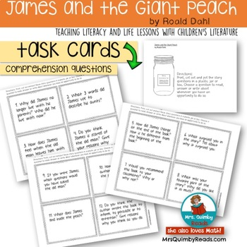 James and the Giant Peach - Roald Dahl - Literature [Reading Response Pages]