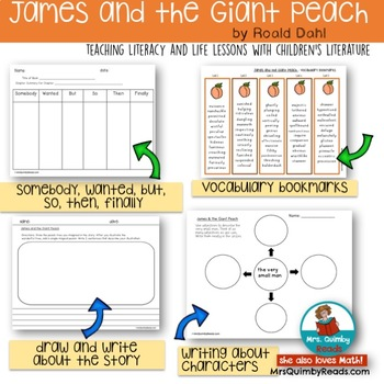 James and the Giant Peach | Roald Dahl | Literature [Reading Response Pages]