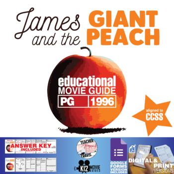 James and the Giant Peach Movie Guide | Questions | Worksheet (PG - 1996)