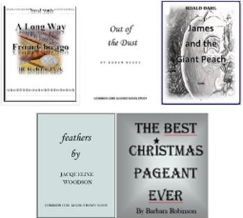 James and the Giant Peach Novel Study PLUS!! 5 Novel Studies for $9.99!!